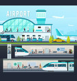transport terminal compositions vector image