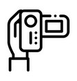 video camera icon outline vector image vector image