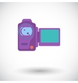 Video camera single icon vector image