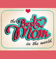 vintage happy mothers s day gift card vector image