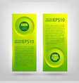 web infographic green vertical banners vector image vector image