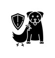 wildlife protection black glyph icon vector image vector image