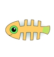 Funny fish-skeleton vector image