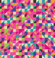 colorful mosaic with triangles and squares