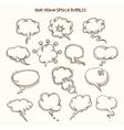 Hand Drawn Speech Bubbles Sketch vector image