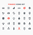 30 finance icons set investment stocks funds vector image vector image