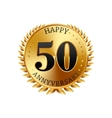 50 years anniversary golden label vector image vector image