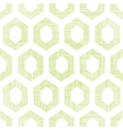 Abstract green fabric textured honeycomb cutout vector image vector image