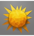 abstract triangle summer sun vector image vector image