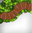 aerial view garden border vector image