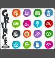 alternative energy icons set in grunge style vector image vector image
