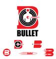 b letter based symbol bullet and target concept vector image