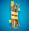 Batch of pencils vector image vector image