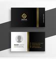 black golden premium business card design vector image vector image