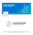 blue business logo template for coins hand vector image