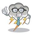 businessman thunder cloud character cartoon vector image