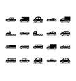 car model sedan suv pickup truck transport vehicle vector image vector image