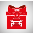 Car sale design sale concept white background vector image