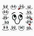 cartoon facial expression joy sadness vector image