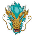 chinese dragon head gold vector image