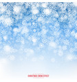 christmas snow 3d effect vector image vector image