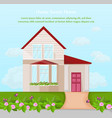 classic house architecture facade vector image
