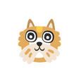 cute brown dog head funny cartoon animal vector image vector image