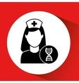 DNA science hospital building icon medicine vector image vector image