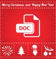 doc icon vector image