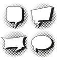 four designs of speech bubbles vector image vector image