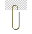 gold metal paperclip vector image vector image