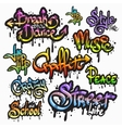 Graffiti word set vector image vector image