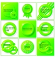 Green abstract set of backgrounds for your design vector image vector image