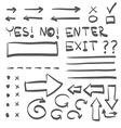 Hand Drawn Icon Doodle Set vector image vector image