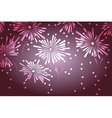 Holiday new year fireworks background vector image vector image