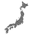 japan map collage of dots vector image