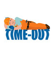 job time out builder sleeping isolated break in vector image vector image