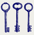 Keys sketch vector image