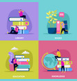 library flat design concept vector image vector image