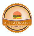 logo restaurant food orange color vector image