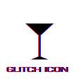 martini glass icon flat vector image