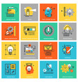 modern thin line flat design icons vector image