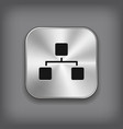 Network icon - metal app button vector image vector image