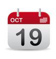 oct calendar stand up vector image