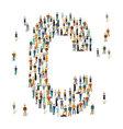 People crowd alphabet ABC letter C vector image