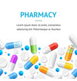 pharmacy therapy flyer banner posters card vector image vector image