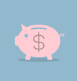 piggy bank with dollar sign vector image vector image