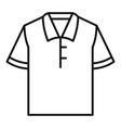 polo tshirt icon outline style vector image vector image