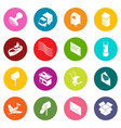 poste service icons set colorful circles vector image vector image