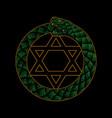 printdesign snake ouroboros symbol vector image vector image